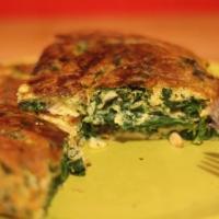 Sur le pouce : Omelette épinard & pignon de pin